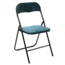 folding chair velvet blue, duck blue