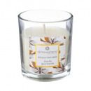 scented candle vanilla glass 110g, white
