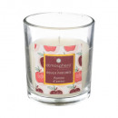 candle scented glass apple 110g, red
