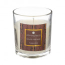 scented candle capuccino glass 110g, brown