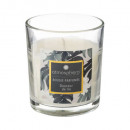 110g scented glass candle, multicolored
