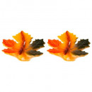 leaf candle erable x2 35g, multicolored