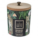 scented candle glass + wooden cover 270g, 2-times