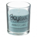 candle glass anniv 90g, 2- times assorted colors