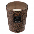 scented candle orchid glass 480g, brown