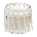scented candle earth glass 420g, beige