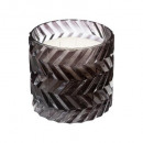 scented candle glass beveled 870g, 2-time assor