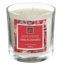 granatowa świeca zapachowa szklana świeca 390g, ró