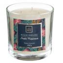vela perfumada de vidrio tropic loys 390g, azul ma