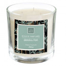 Vela perfumada Bamboo Glass Loys 390g, negro