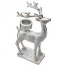 tealight candle holder resi reindeer 2ass, 2-time