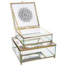 grossiste Bijoux & Montres: boite bijoux verre imprimée ethn x2