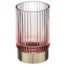 glass tealight holder + metal base d6x10