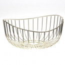 gold basket 27cm sarah b, gold