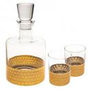 doos whisky 3 stuks sarah b, goud