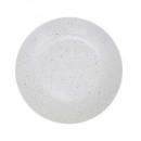 plato postre racimo blanco 20cm, blanco