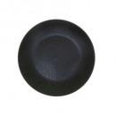 plato postre racimo negro 20cm, negro