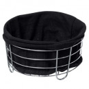 black multipurpose basket bistr, black
