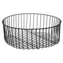 metal wire basket 25cm strong, black