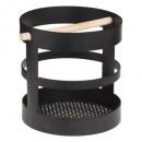 Großhandel Küchenutensilien: Topf ust Holz und Metall Bistro, schwarz