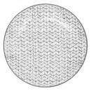 plato plana Shibori 27cm gris, gris