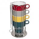 4 mugs rack 26cl + cap holder