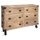 6-drawer sideboard silas, sand