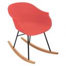 rocking chair polypropylene terracotta, terracotta