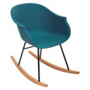 navy polypropylene rocking chair, navy blue