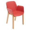 sillón de polipropileno para terra alby wood, terr
