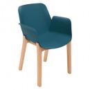 houten fauteuil polypropyleen navy alby, navy blau