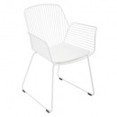 wholesale Child and Baby Equipment: alby white metal wire armchair, white