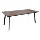 table diner nissa 200x90, marron