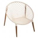fauteuil naturel fil p teck, blanc