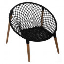 black armchair wire p mango, black