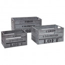 caja cajón plata x3 cargo, gris
