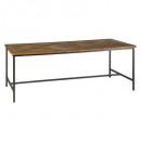 mesa de comedor 200x100cm corte, marrón