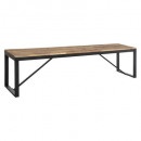 bench table diner 170x35 edena, black