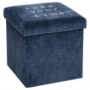 folding beanbag velvet slow blue, blue