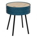 stolik kawowy bezpieczny niebieski shiro, niebiesk