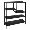 shelf 75x100 black wood gota, black