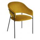 fauteuil en velours mtrd siron, moutarde