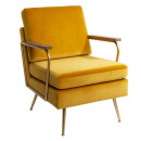 fauteuil in velvet daya mosterd, mosterd