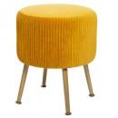 stool in velvet foldable ocher solaro, mustard