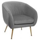 stoel velvet opvouwbare grijze solaro, grijs