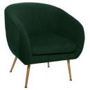 fauteuil en velours pliable vert solaro, vert