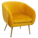 fauteuil en velours pliable ocre solaro, moutarde