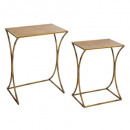 asco x2 metal side table, brown