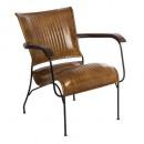 fauteuil cuir cognac hoper, cognac