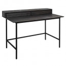 cioco desk with 2 drawers, dark gray